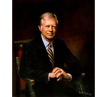 President Jimmy Carter Painting Photographic Print