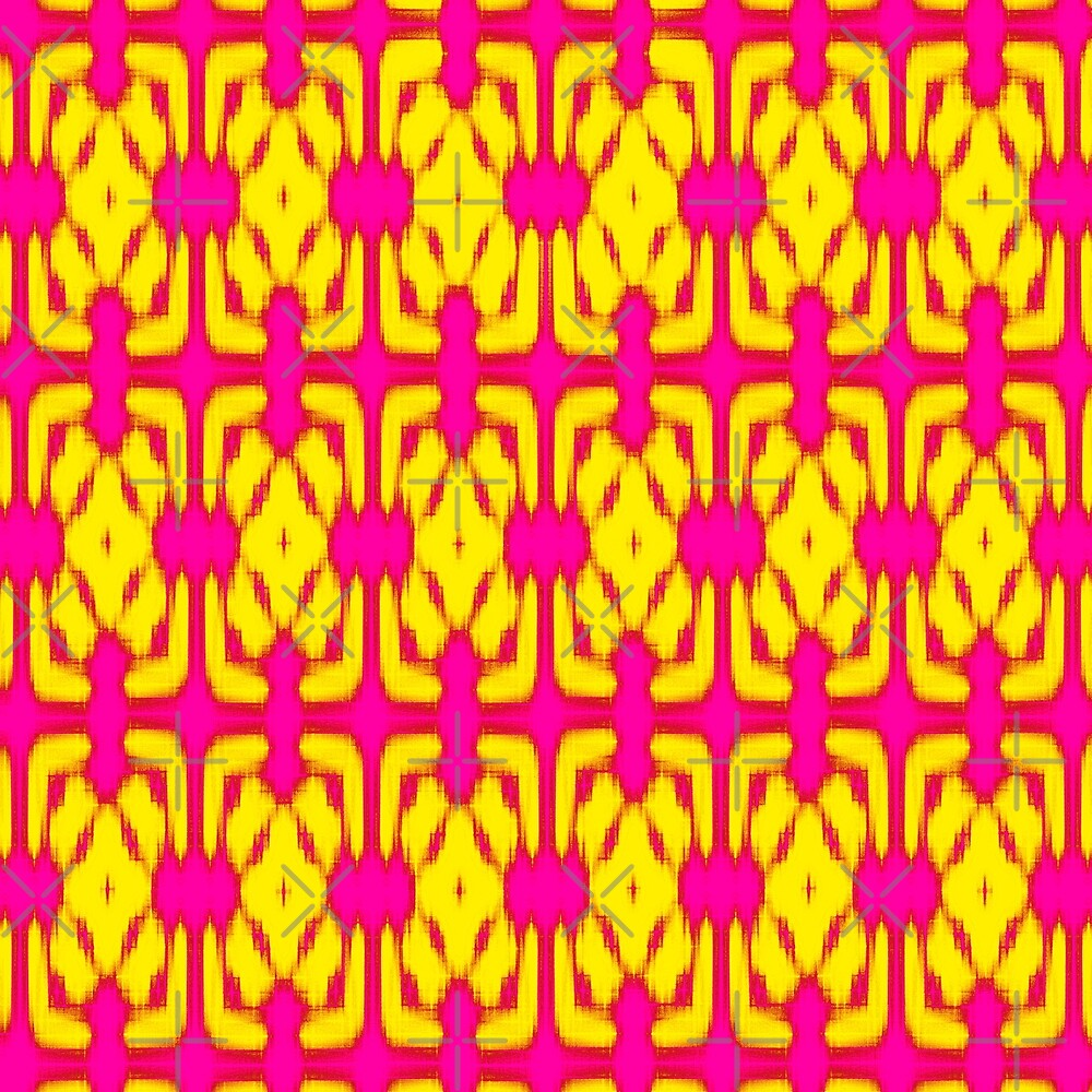 Pink and Yellow Woven Wallpaper by haymelter
