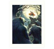Werewolf Night Art Print