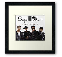 Boys 2 Men - End of The Road Framed Print