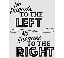 Friends and Enemies - Black Photographic Print