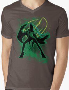Super Smash Bros Green Bayonetta (Original) Silhouette Mens V-Neck T-Shirt
