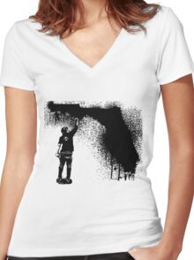 Florida Tagger Women's Fitted V-Neck T-Shirt