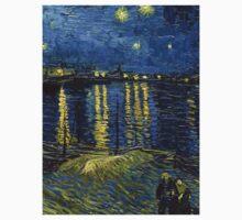 1888-Vincent van Gogh-Starry Night-72x92 One Piece - Short Sleeve