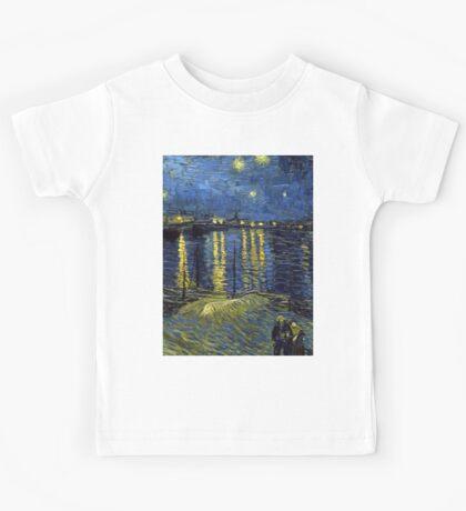 1888-Vincent van Gogh-Starry Night-72x92 Kids Tee