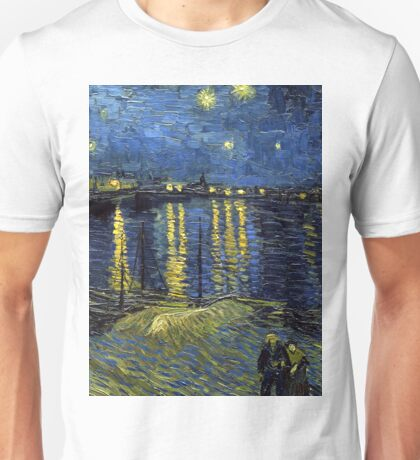 1888-Vincent van Gogh-Starry Night-72x92 Unisex T-Shirt