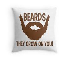 beards Throw Pillow