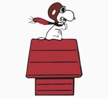 Aviator Snoopy Kids Tee