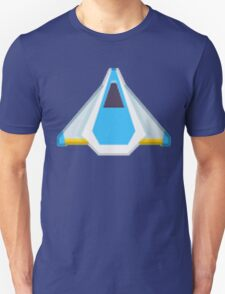 Blue Game Space Ship T-Shirt