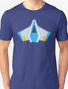 Blue Game Space Ship#2 T-Shirt
