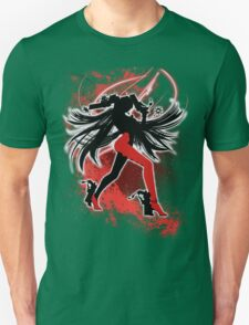Super Smash Bros. Red/White Bayonetta (Default) Silhouette T-Shirt