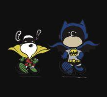 Batman and Robin Peanuts Kids Tee