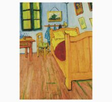 1888-Vincent van Gogh-The Bedroom-72x90 Baby Tee