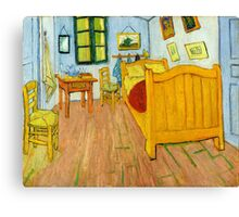 1888-Vincent van Gogh-The Bedroom-72x90 Canvas Print