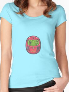Daruma Doll Zombie Women's Fitted Scoop T-Shirt