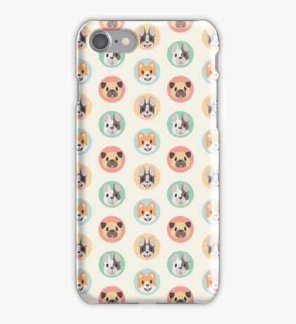 Circle Pups Pattern iPhone Case/Skin
