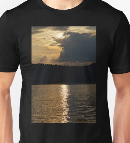 Sunset at Solina Lake Unisex T-Shirt