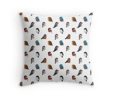 Beautifully Designed Bird Breed Images Throw Pillow