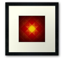 Red and yellow star pattern Framed Print