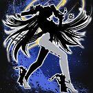 Super Smash Bros. White Bayonetta (Default) Silhouette by jewlecho