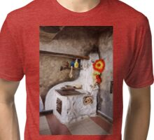 Old kitchen in a cottage  Tri-blend T-Shirt