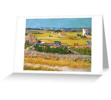 1888-Vincent van Gogh-The harvest-73x92 Greeting Card