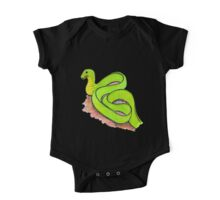 Cute little green snake One Piece - Short Sleeve