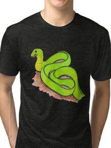 Cute little green snake Tri-blend T-Shirt