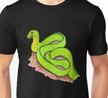 Cute little green snake Unisex T-Shirt
