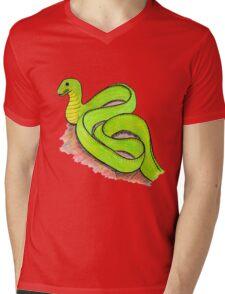 Cute little green snake Mens V-Neck T-Shirt