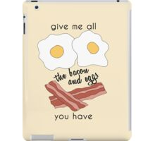 bacon and eggs iPad Case/Skin
