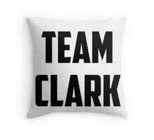 Team Clark - Black on White Throw Pillow