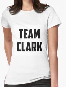 Team Clark - Black on White Womens Fitted T-Shirt