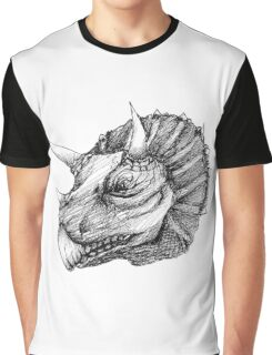 Triceratops pen drawing Graphic T-Shirt