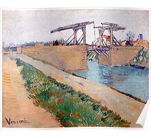 1888-Vincent van Gogh-The Langlois bridge-59,5x74 Poster