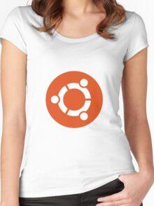 ubuntu Women's Fitted Scoop T-Shirt