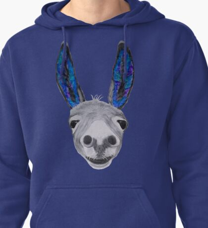 Funny donkey (blue/purple) Pullover Hoodie
