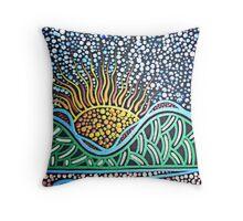 Thungutti Mountain Dreaming Throw Pillow