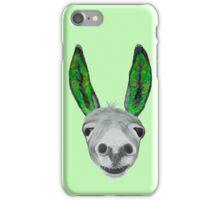 Funny donkey (green) iPhone Case/Skin