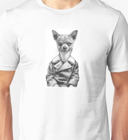 chihuahua with coat Unisex T-Shirt