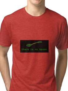 The Matrix - There Is No Spoon Black Tri-blend T-Shirt