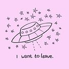 UFO Aliens Starseed - I want to leave by AdrienneOrpheus
