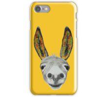 Funny donkey (orange/red/green) iPhone Case/Skin