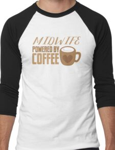 Midwife powered by COFFEE Men's Baseball ¾ T-Shirt