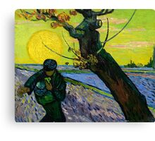 1888-Vincent van Gogh-The sower-32x40 Canvas Print