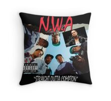 Niggaz Wit Attitudes N.W.A Throw Pillow