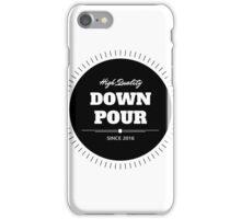 Round Logo Black iPhone Case/Skin