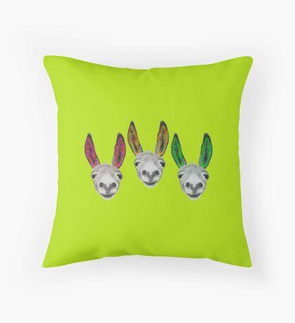 Funny donkeys (version 1) Throw Pillow