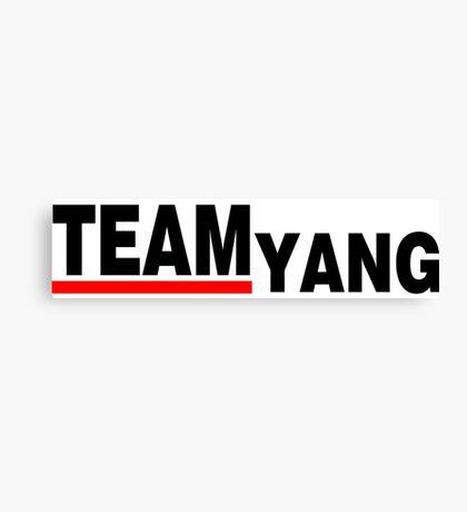 Team Yang Grey's Black Canvas Print