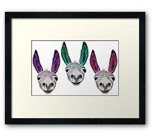 Funny donkeys (version 2) Framed Print